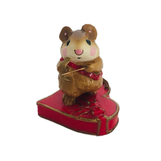 Cupid Mouse M-094 Red by Wee Forest Folk