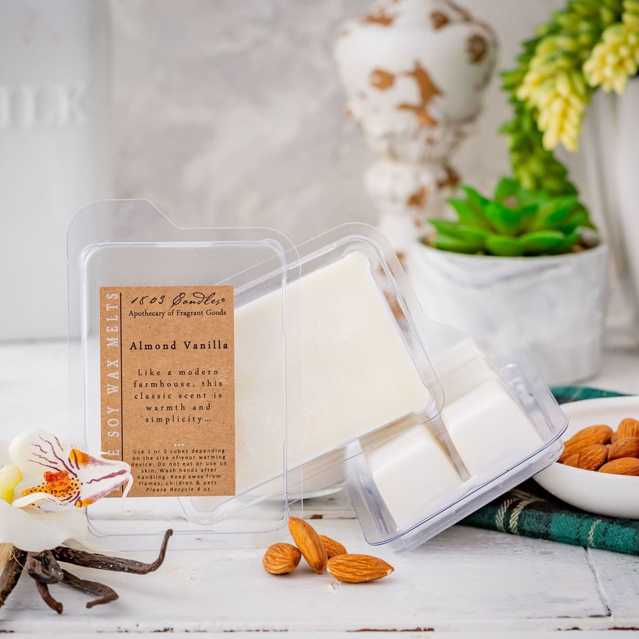 Almond Vanilla Melters by 1803 Candles