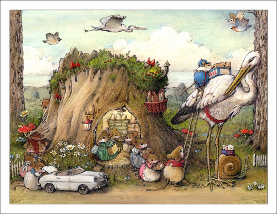 Mousey Market Note Card by Wee Forest Folk®