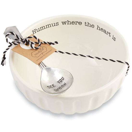 Hummus Bowl & Spoon Set by Mudpie