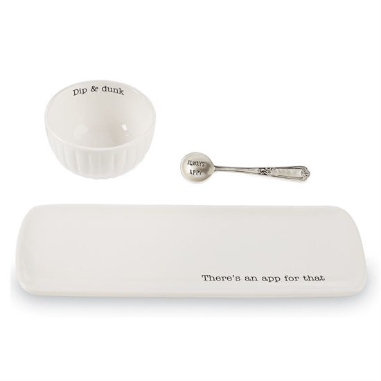 App For That Serving Set by Mudpie