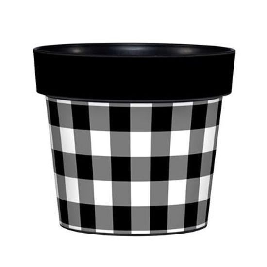 "Black and White 6"" Art Pot by Studio M"