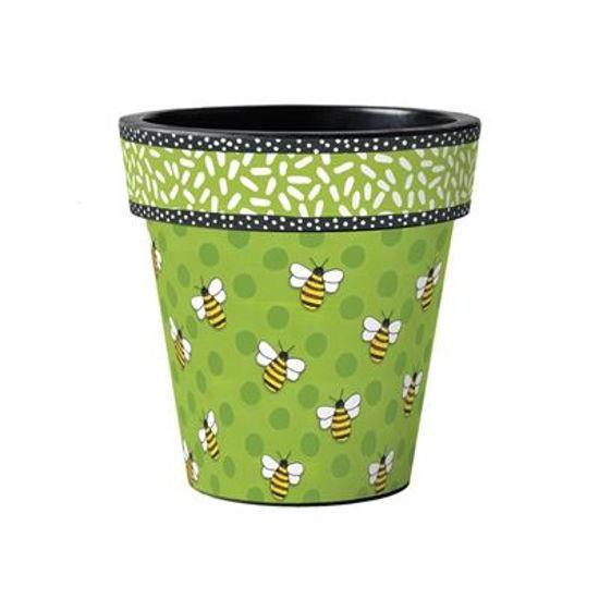"Bees Delight 15"" Art Pot by Studio M"