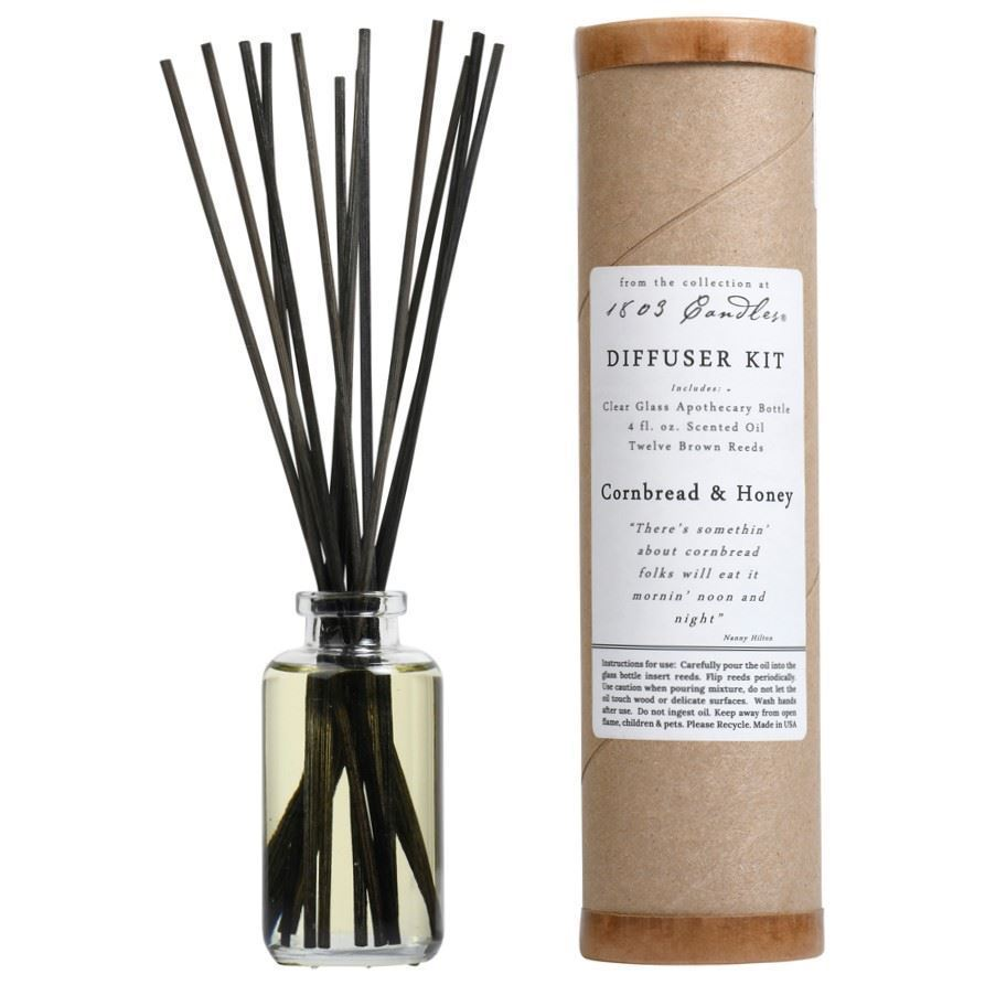 Cornbread & Honey Diffuser Kit  by 1803 Candles