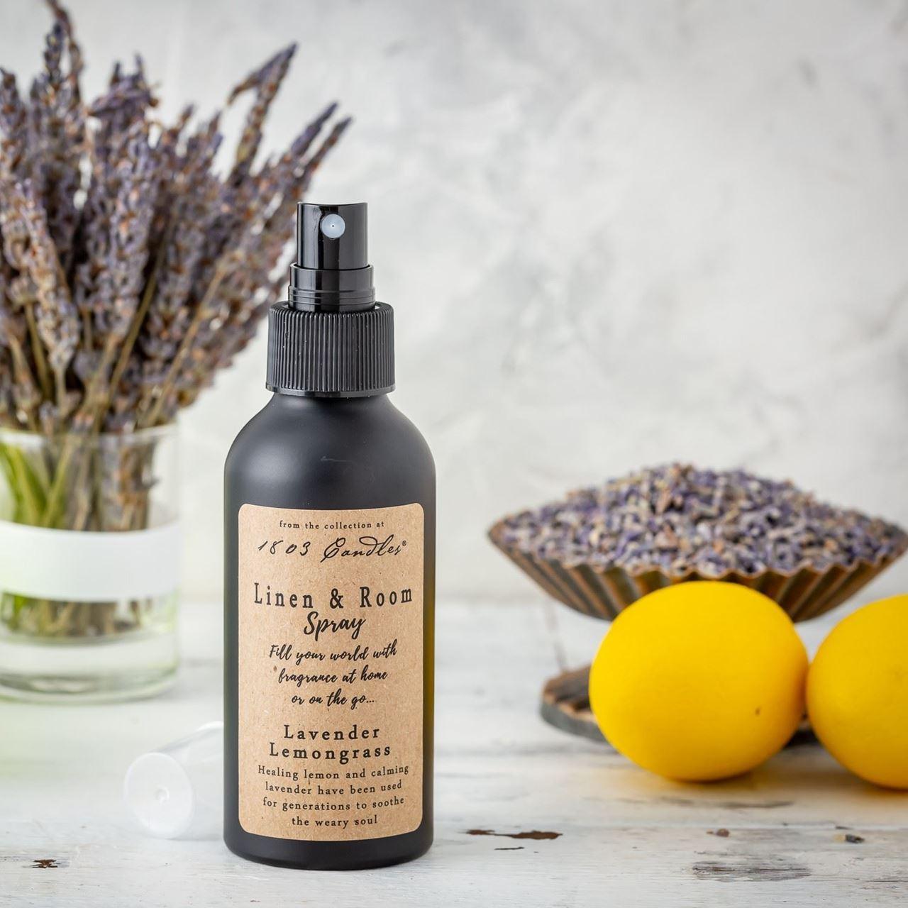 Lavender Lemongrass Linen & Room Spray by 1803 Candles