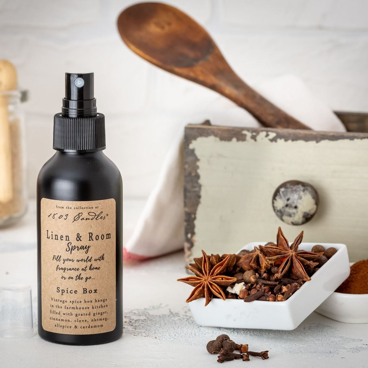 Spice Box Linen & Room Spray by 1803 Candles