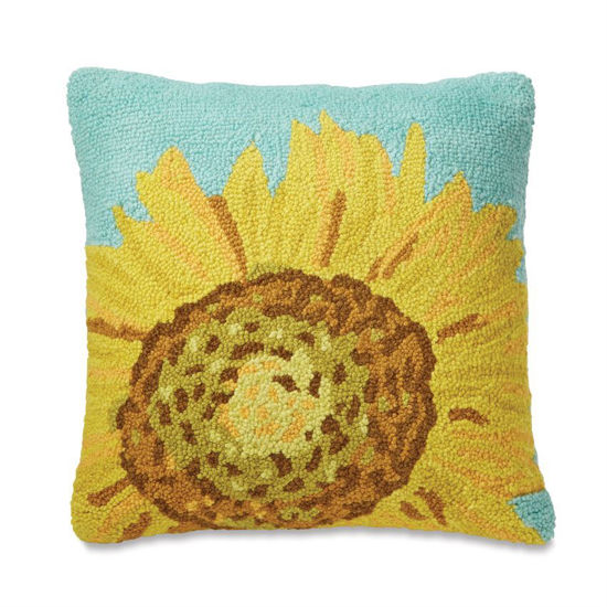 Sunflower Hooked Pillow by Mudpie
