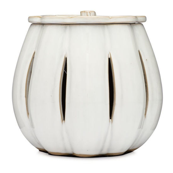 White Pumpkin Electric Wax Warmer with Star by 1803 Candles
