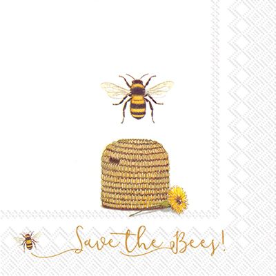 Save the Bees Luncheon Napkin by Boston International