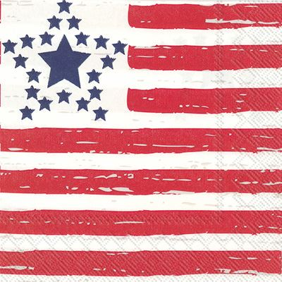 Distressed Flag Cocktail Napkin by Boston International
