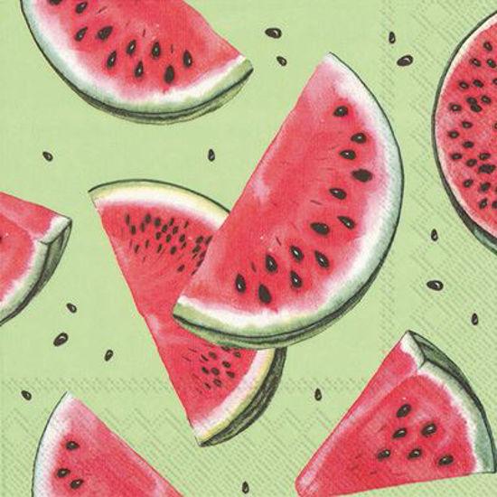 Watermelon Green Luncheon Napkin by Boston International
