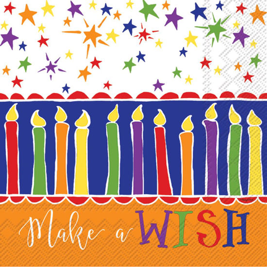 Make A Wish Orange Luncheon Napkin by Boston International