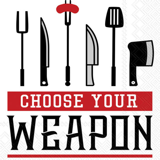 Choose Your Weapon Cocktail Napkin by Boston International