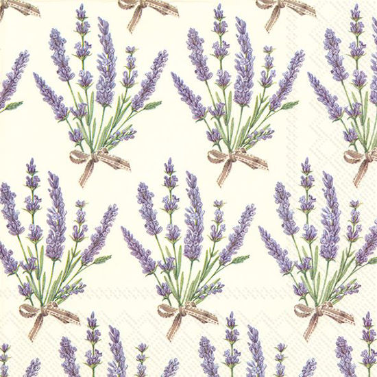 Bouquet of Lavender Cream Luncheon Napkin by Boston International