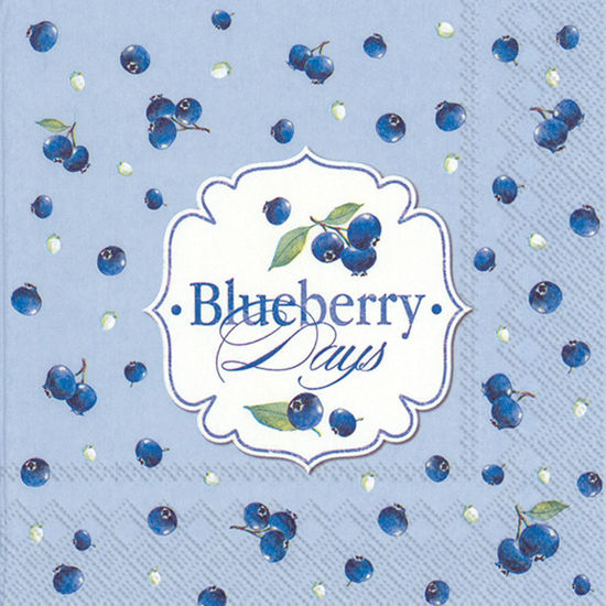 Blueberry Days Light Blue Luncheon Napkin by Boston International