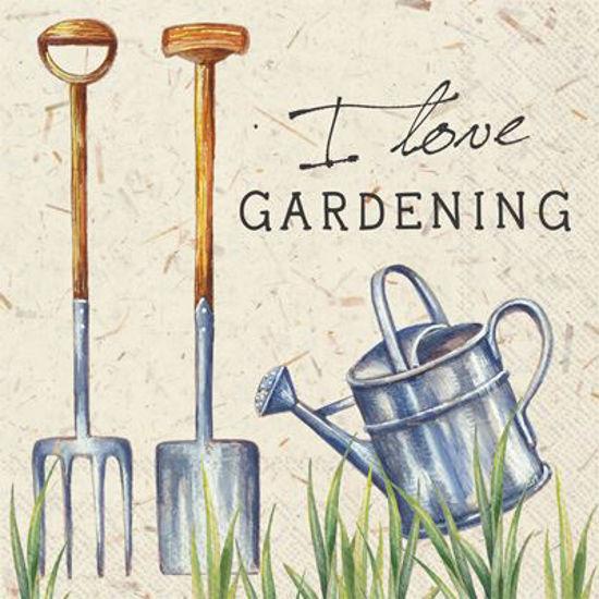 I Love Gardening Cocktail Napkin by Boston International