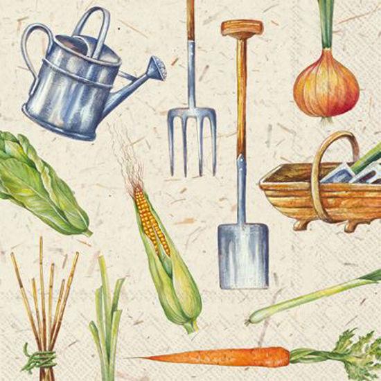 I Love Gardening Luncheon Napkin by Boston International