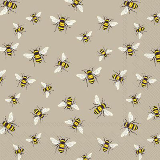 Lovely Bees Linen Luncheon Napkin by Boston International