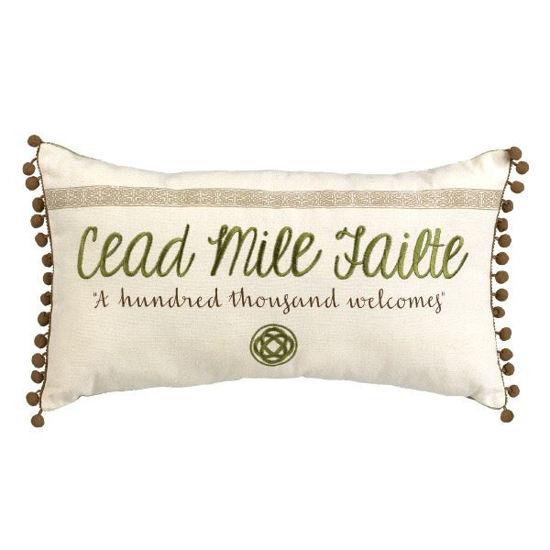 Cead Mile Failte Pillow by Grasslands Road