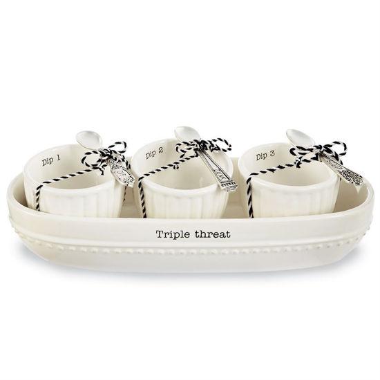 Triple Threat Cracker Bowl Set by Mudpie