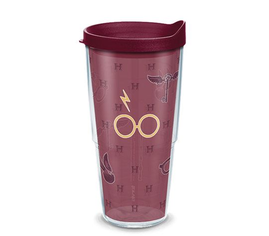 Harry Potter Maroon and Gold Glasses 24oz Tumbler by Tervis