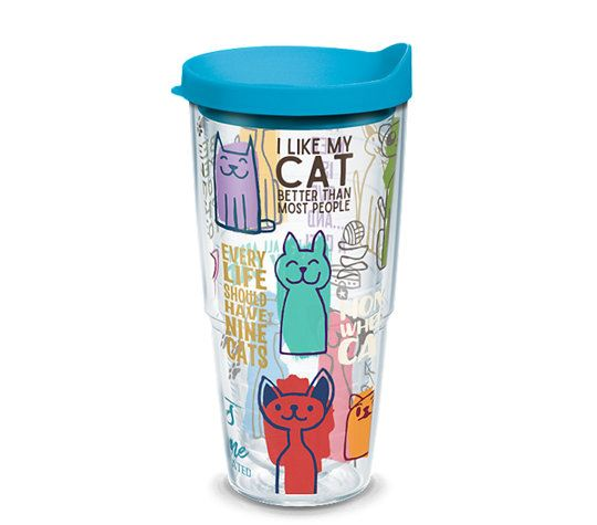 Cat Sayings 24oz Tumbler by Tervis