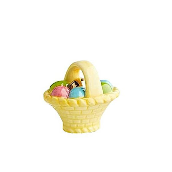 A Tisket, A Tasket (Basket with Egg) Mini by Nora Fleming