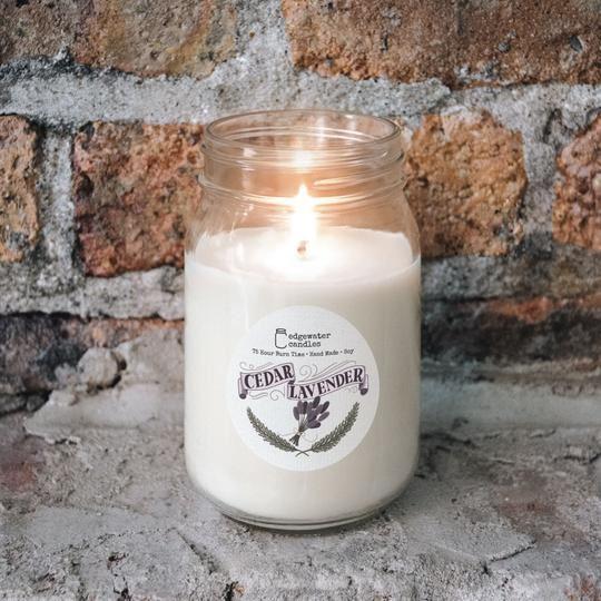 Cedar Lavender Jar by Edgewater Candles