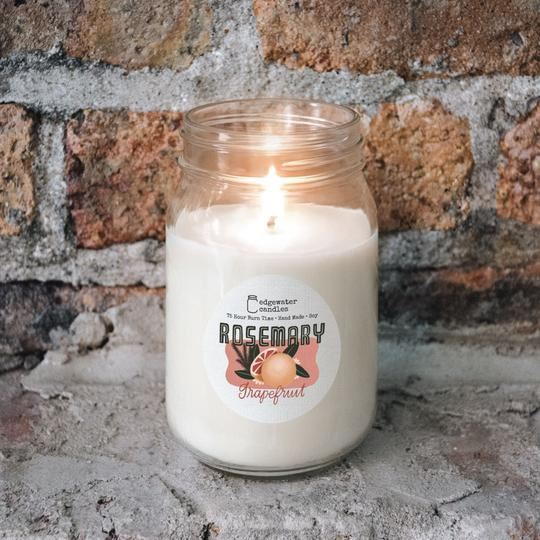 Rosemary Grapefruit Jar by Edgewater Candles