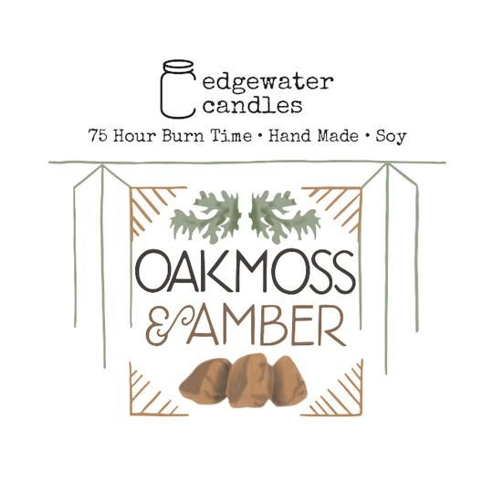 Oakmoss and Amber Jar by Edgewater Candles