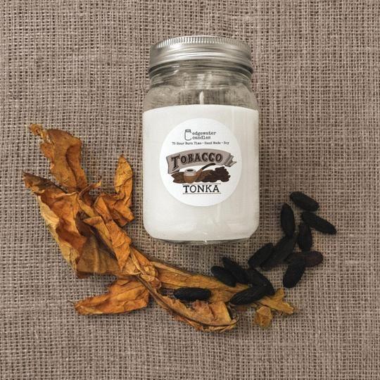 Tobacco Tonka Jar by Edgewater Candles