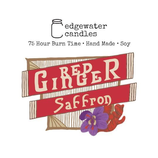 Red Ginger Saffron Jar by Edgewater Candles