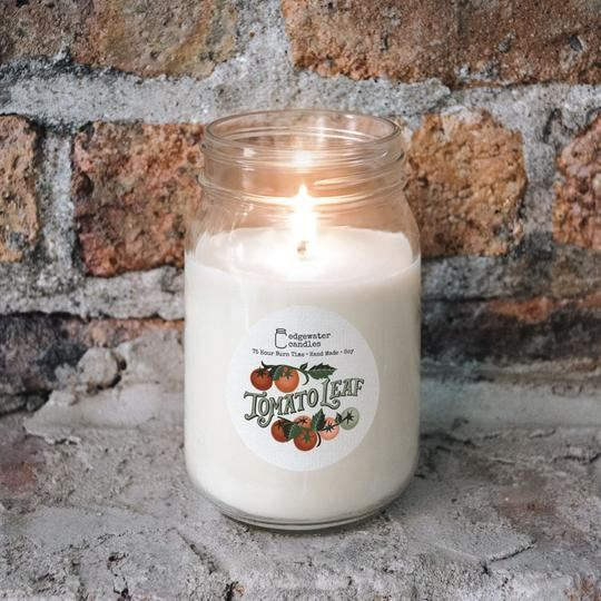 Tomato Leaf Jar by Edgewater Candles