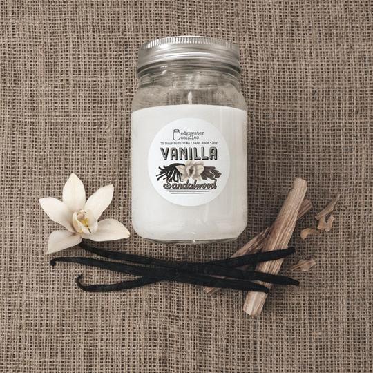 Vanilla Sandalwood Jar by Edgewater Candles