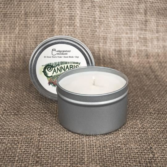 Cannabis Vetiver Travel Tin by Edgewater Candles