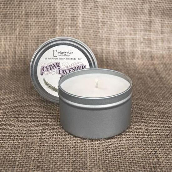 Cedar Lavender Travel Tin by Edgewater Candles