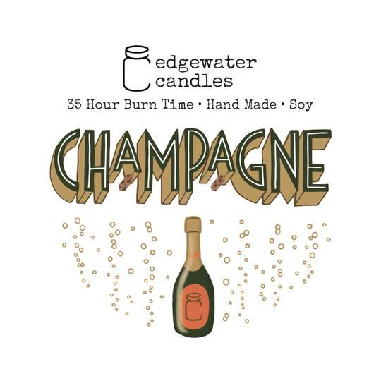 Champagne Travel Tin by Edgewater Candles
