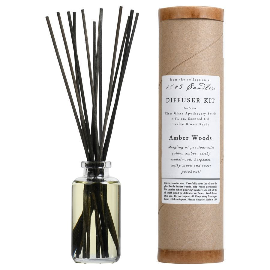Amber Woods Diffuser Kit  by 1803 Candles