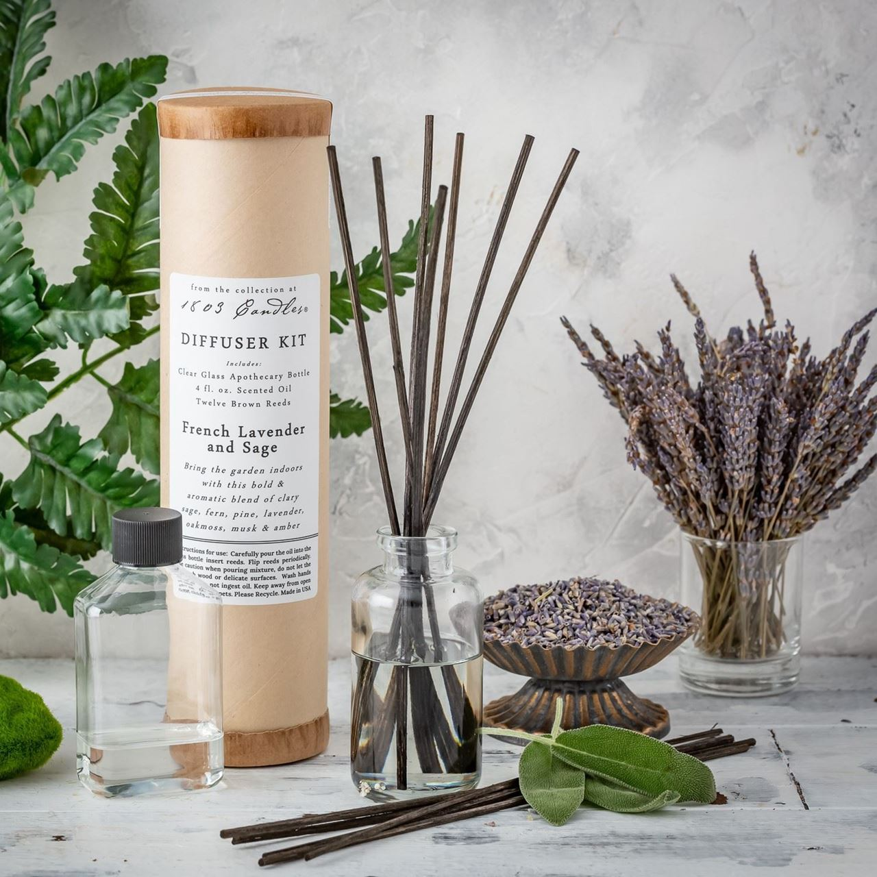 French Lavender & Sage Diffuser Kit  by 1803 Candles