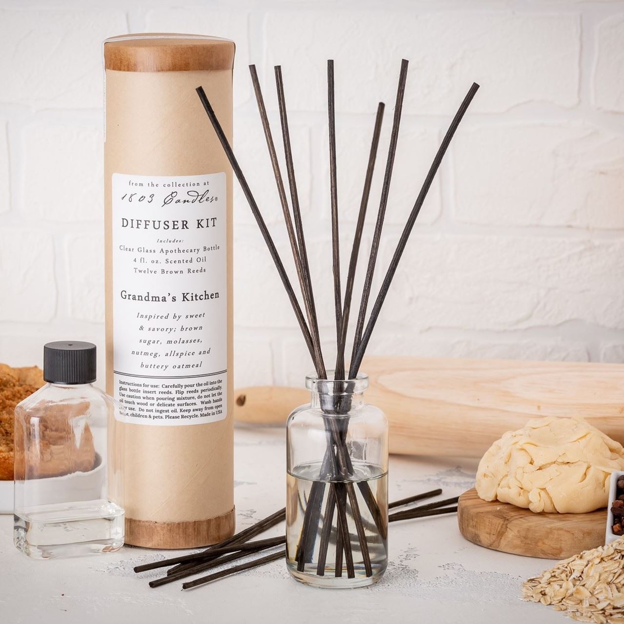 Grandma's Kitchen Diffuser Kit  by 1803 Candles
