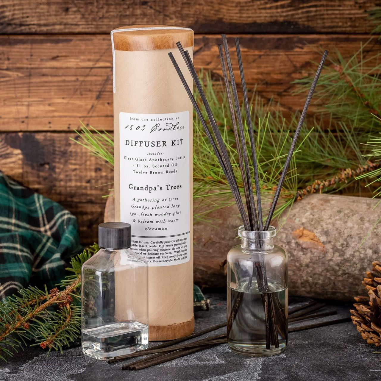 Grandpa's Trees Diffuser Kit  by 1803 Candles