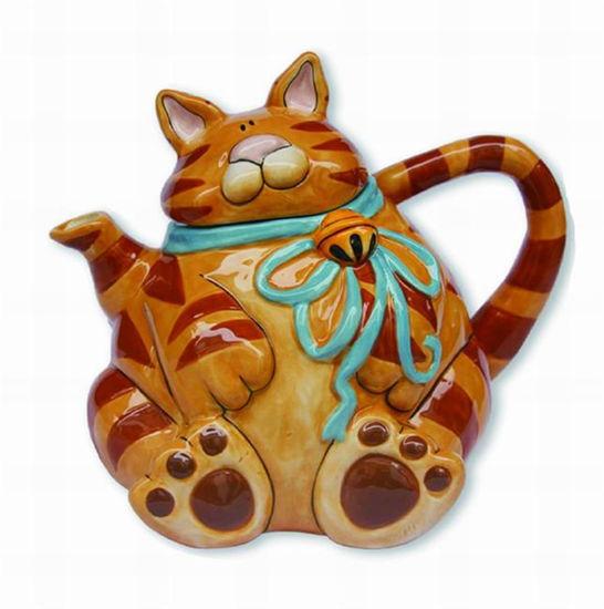 Orange Cat Teapot by Blue Sky Clayworks