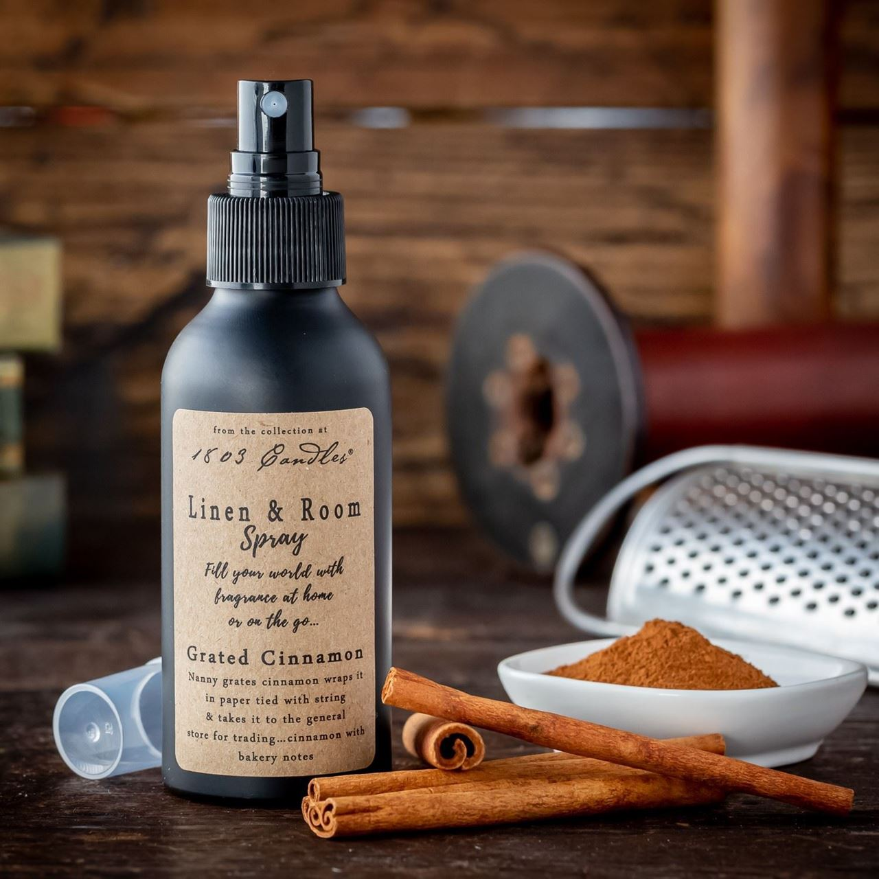 Grated Cinnamon Linen & Room Spray by 1803 Candles