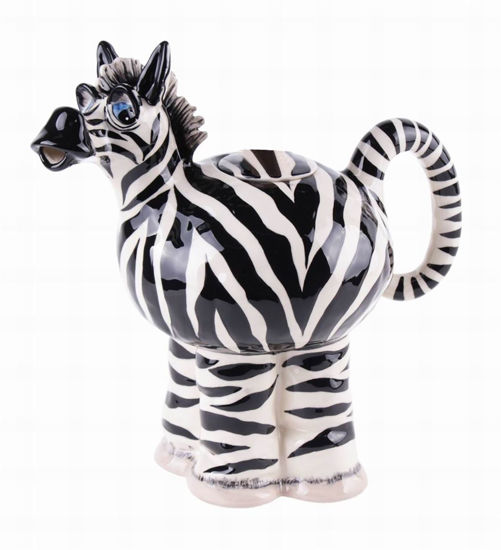 Zebra Teapot by Blue Sky Clayworks