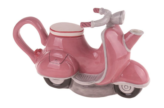 Pink Motorcycle Teapot by Blue Sky Clayworks