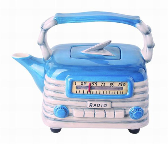 Blue Radio Teapot by Blue Sky Clayworks