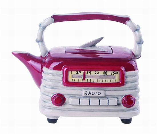 Red Radio Teapot by Blue Sky Clayworks