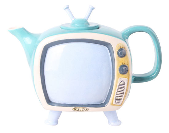 Green Television Teapot by Blue Sky Clayworks