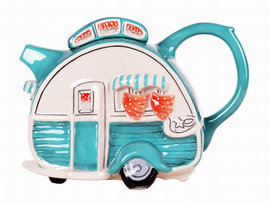 Turquoise Caravan Teapot by Blue Sky Clayworks