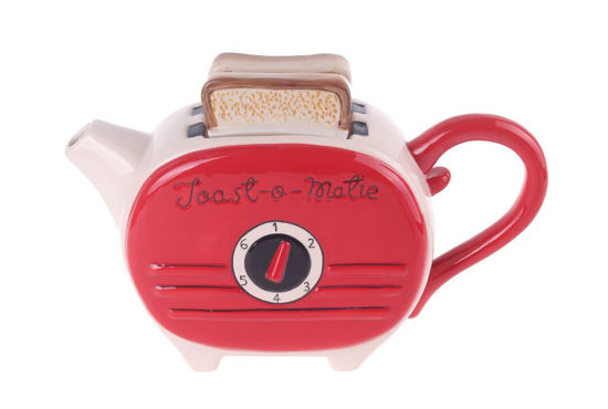 Red Toast Teapot by Blue Sky Clayworks